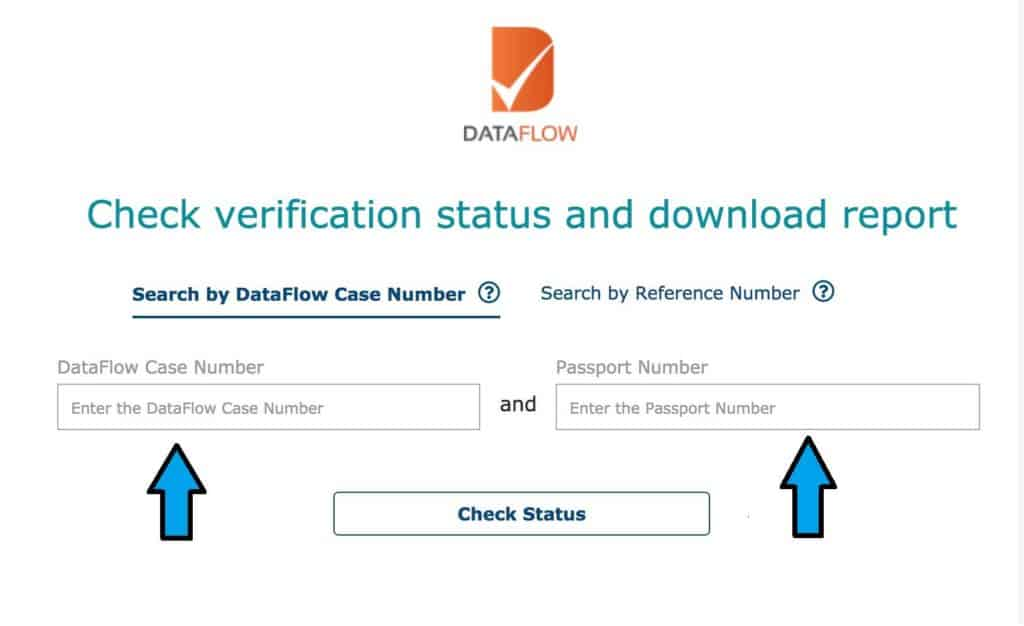 How to check Data flow verification status and download the report