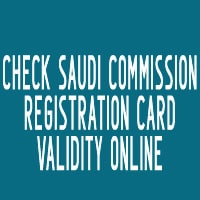 Check Saudi Commission Registration Card Validity Online