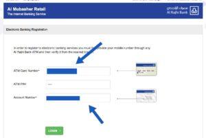 alrajhi bank mubashir retail net banking registration