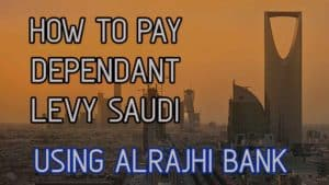 how to check and pay family dependent levy in Saudi Arabia