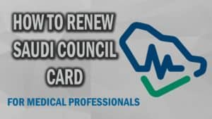RENEWAL OF SAUDI COUNCIL CARD-SCFHS LICENSE RENEWAL17