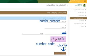 check iqama status using border number