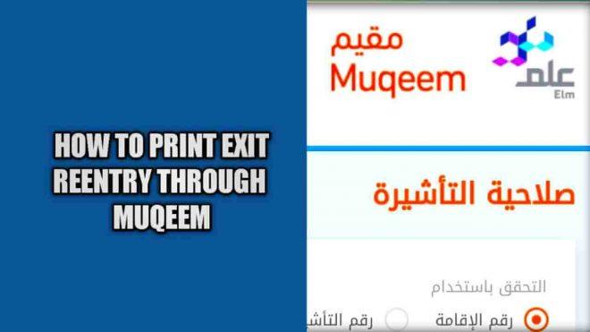 check status exit reentry through muqeem