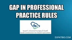 Gap in professional practice the scfhs rules you must know