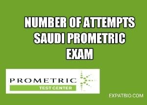 Number of attempts for saudi prometric for non saudi practitioners