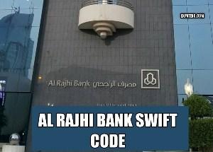 Al rajhi Bank swift code information
