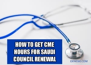 How to get cme hours for saudi council renewal