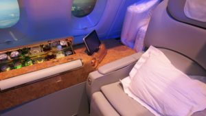 Emirates a380 first class review :suite price,seatmap,bar,shower&more