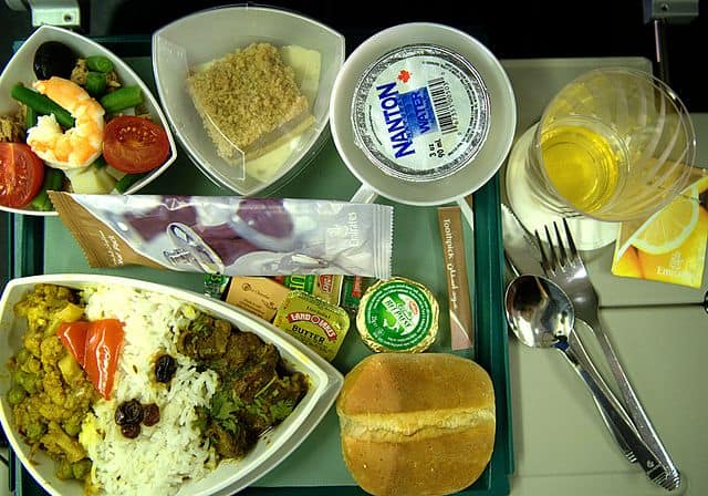 Emirates a380 economy class meals