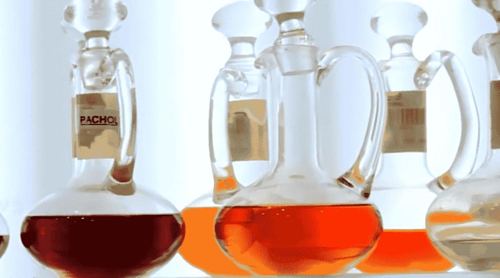 red perfume bottles