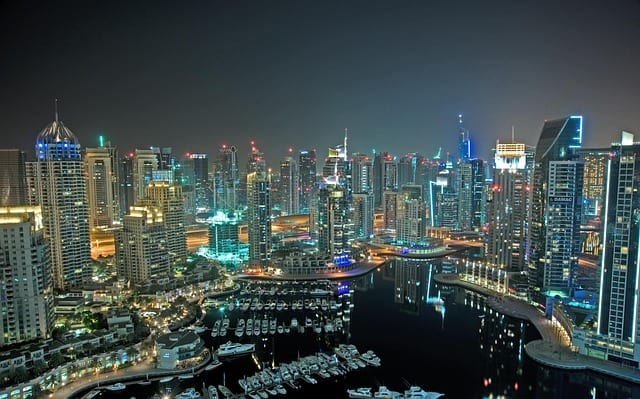 dubai beautiful night