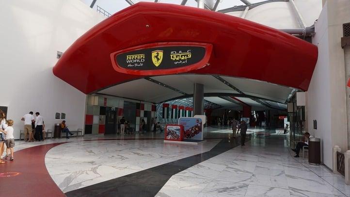 Abu Dhabi Ferrari world entrance