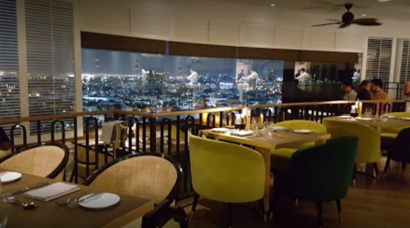 Al Dawaar revolving restaurant people enjoying food