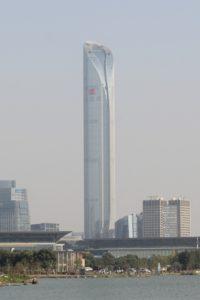 Suzhou IFS tall tower under construction