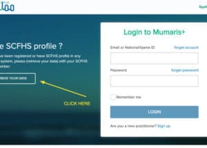 How to retrieve login details of old Mumaris account and open Mumaris plus