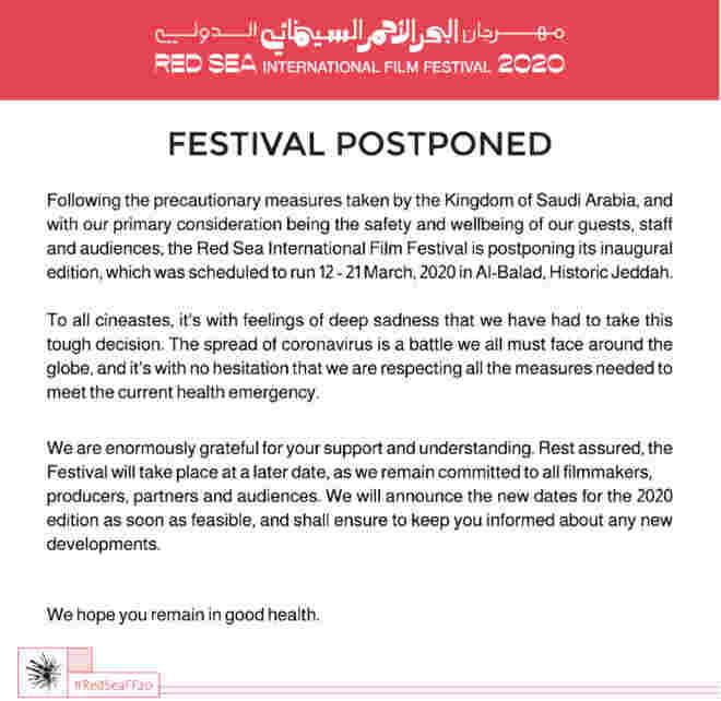 Red Sea International Film festivalupdates