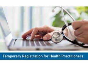 Temporary registration for all health practitioners to combat covid 19