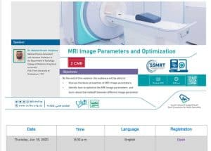 MRI image parameters and optimization:Watch upcoming scfhs webinar