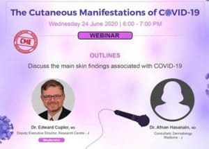 The Cutaneous Manifestations Of Covid-19:Scfhs Webinar On Jun 24