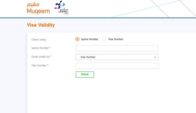visa validity check in muqeem