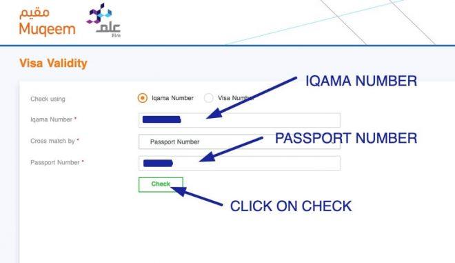 exit reentry visa status via muqeem